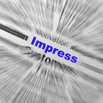 Impress Sphere Definition Displays Satisfactory Impression Or Excellen