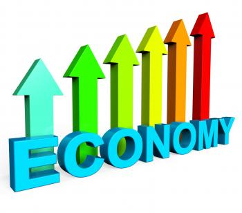 Improve Economy Shows Business Graph And Advance