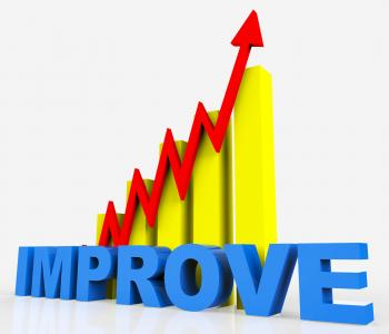 Improve Graph Indicates Improvement Plan And Data