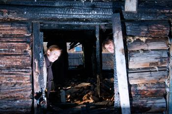 In the burned house