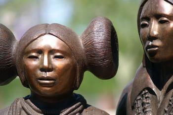 Inca bronze statues