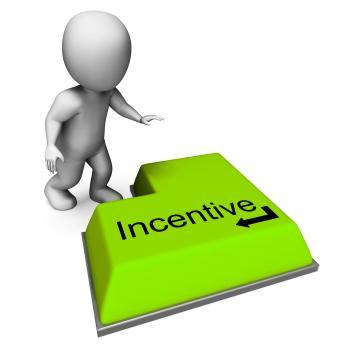 Incentive Key Shows Reward Premium Or Bonus