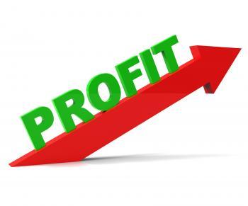 Increase Profit Means Upwards Raise And Revenue