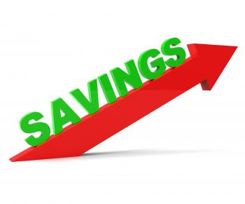 Increase Savings Shows Upward Improve And Improvement