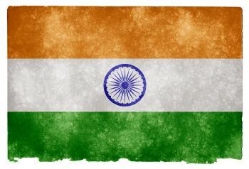 India Grunge Flag