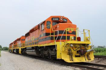Indiana Southern SD40-2s Parked.