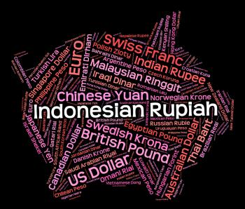 Indonesian Rupiah Means Worldwide Trading And Currencies