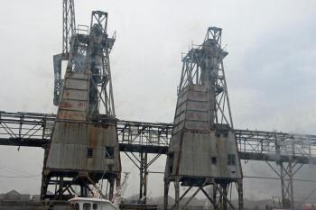 Industrial harbour view