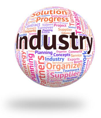 Industry Word Represents Wordcloud Industrialized And Text