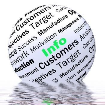 Info Sphere Definition Displays Customer Service And Assistance