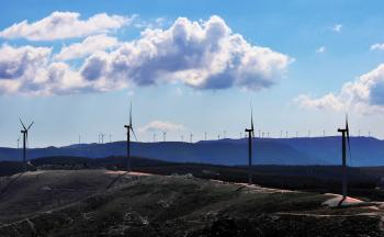 Inland wind farm in central Portugal