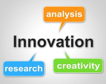 Innovation Words Shows Investigate Researcher And Investigation