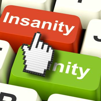 Insanity Sanity Keys Shows Sane And Insane Psychology