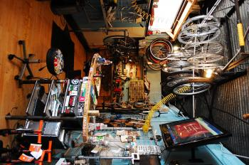 Inside a Bike Shop