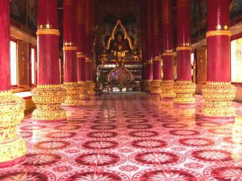 Inside a Thai Buddhist Temple