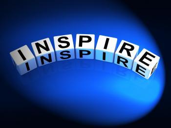 Inspire Dice Show Inspiration Motivation and Invigoration
