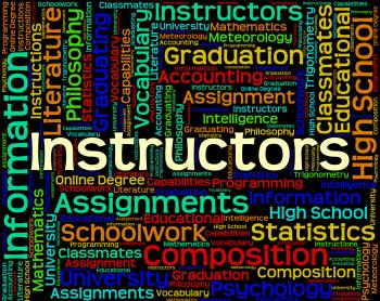 Instructors Word Means Trainers Trainer And Training