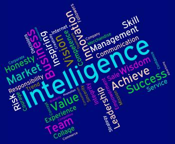 Intelligence Words Represents Intellectual Capacity And Acumen