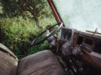 Interior of Abandoned Automobile