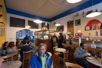Interior of Nefeli Cafe on Euclid in Berkeley