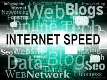 Internet Speed Represents Velocity Upload And Websites