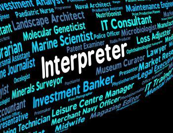 Interpreter Job Shows Profession Jobs And Translators