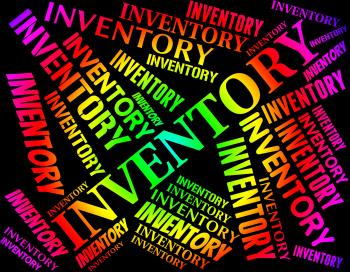 Inventory Word Indicates Products Product And Purchase