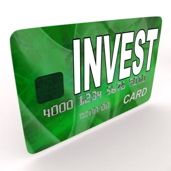 Invest on Credit Debit Card Shows Investing Money