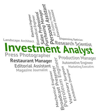 Investment Analyst Represents Analytics Hiring And Text