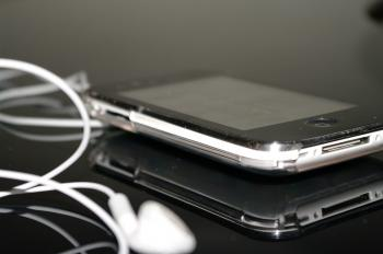 iPhone with headset