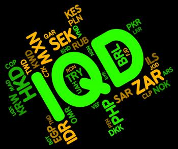 Iqd Currency Indicates Foreign Exchange And Dinar