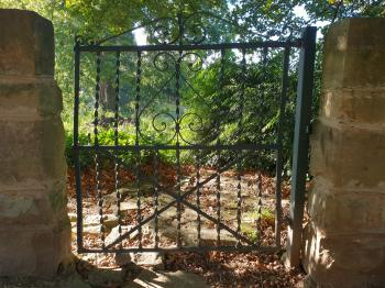 Iron gate to the garden