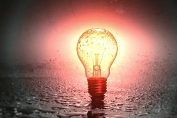 Isolated Light Bulb