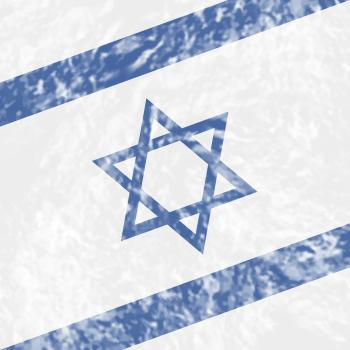 Israel Grunge Shows Waving Flag And Country