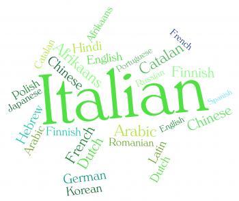 Italian Language Shows Lingo Translate And International