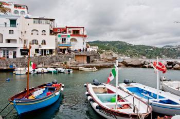 ITALY, Ischia island, S.Angelo, fisherme
