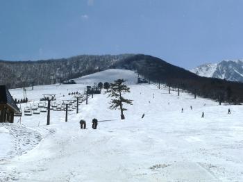 Japanese ski slopes on Mount Daisen