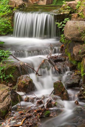 Jean-Drapeau Waterfall - HDR