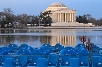 Jefferson Memorial & Pedal Boats - HDR