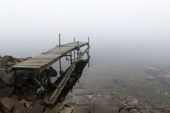Jetty in fog at Holländaröd 1