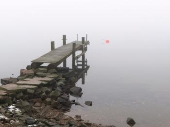 Jetty in fog at Holländaröd 2