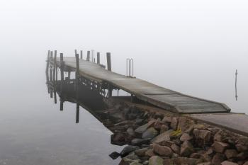 Jetty in fog at Holländaröd 3