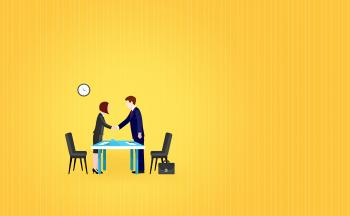 Job interview - Illustration with Copyspace