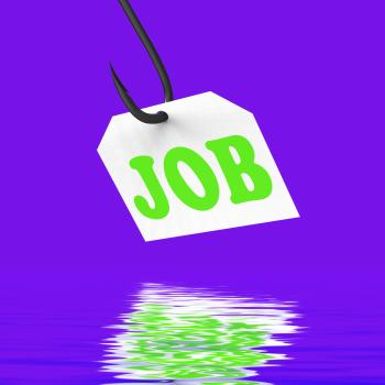 Job On Hook Displays Professional Employment Or Occupation