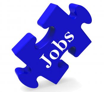 Jobs Puzzle Shows Recruitment Employment Or Hiring