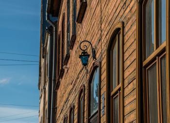 Just an idyllic view of wooden facade