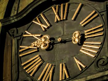 Just an old church tower clock