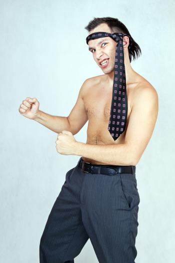 Karate Businessman