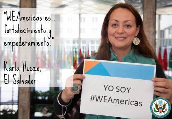 Karla, WEAmericas participant from El Salvador
