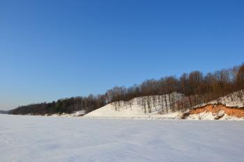 Kaunas reservoir in winter